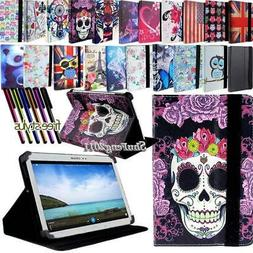 """For 7"""" 8"""" 10"""" Samsung Galaxy Tablet FOLIO LEATHER STAND Cove"""