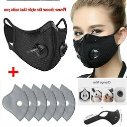 Air Purifying Washable Face Mask Activated Carbon Filter Cyc