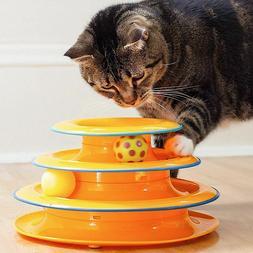 Cat Smart Toys Three Levels Tower Tracks Disc Triple Play Ba