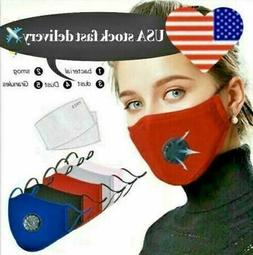 Cotton Style New Face Mask With 2 Filters Washable Reusable