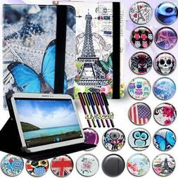 """FOLIO LEATHER STAND Cover CASE For 7"""" 8"""" 10"""" Samsung Galaxy"""