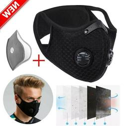 HOT Reusable Face Mask Activated Carbon Sports Cycling Anti