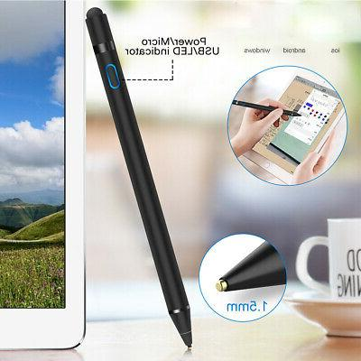 Active Capacitive Round Cover Stylus Pen Silicone Head Touch