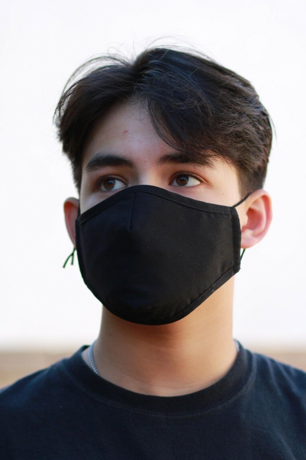 face mask black anti splash anti odor