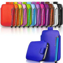 Leather Pull Tab Case Cover Pouch Holster & Stylus For Vario
