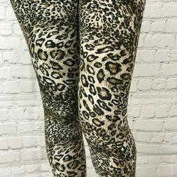Leopard Cheetah Leggings Soft Comfortable S to L Yoga Active
