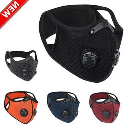 NEW Outdoor Cycling Face Mask Reusable Activated Carbon Anti