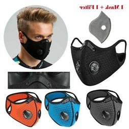New style Cycling face mask with Active carbon filter breath