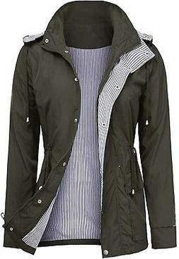 UUANG Raincoats Waterproof Rain Jacket Active Outdoor Detach