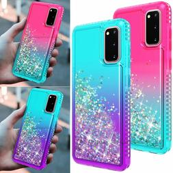 For Samsung Galaxy S20 S10 Note10 Bling Glitter Clear Cute S