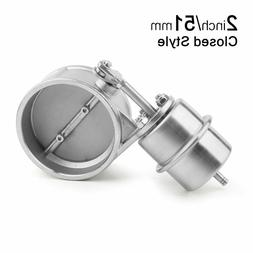 Stainless Steel Vacuum Activated Exhaust Cutout 2'' 51MM Clo