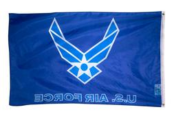 US Air Force Flag New Style Wings Logo 3x5 ft USAF White on