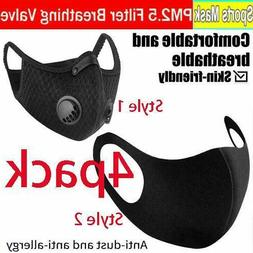 Washable Reusable Carbon Face Mask Activated With Respirator