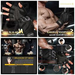 BOBURACN WorkoutGloves forWomen Men,Weight LiftingGlov